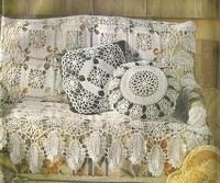 Вязаные покрывала на диван