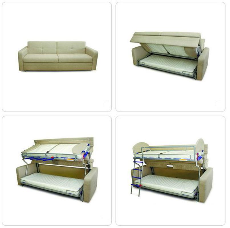 Трансформирующийся в двухъярусную кровать диван