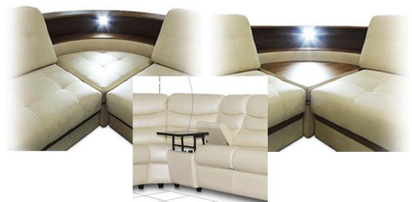 Угловые диваны со столиком