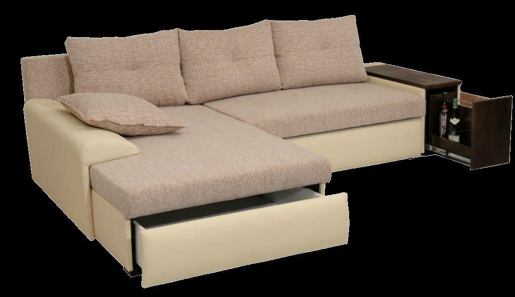 Большой угловой модульный диван