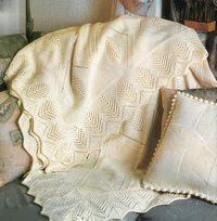 вязание пледов спицами