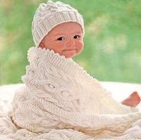 Вязаные пледы для новорожденных