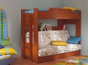 Двухъярусные кровати с диваном внизу