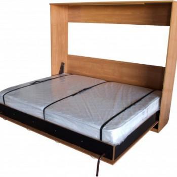 Горизонтальная двухместная откидная кровать