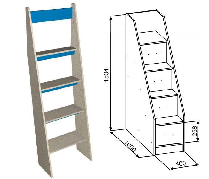 Лестницы на кровать-чердак с рабочей зоной
