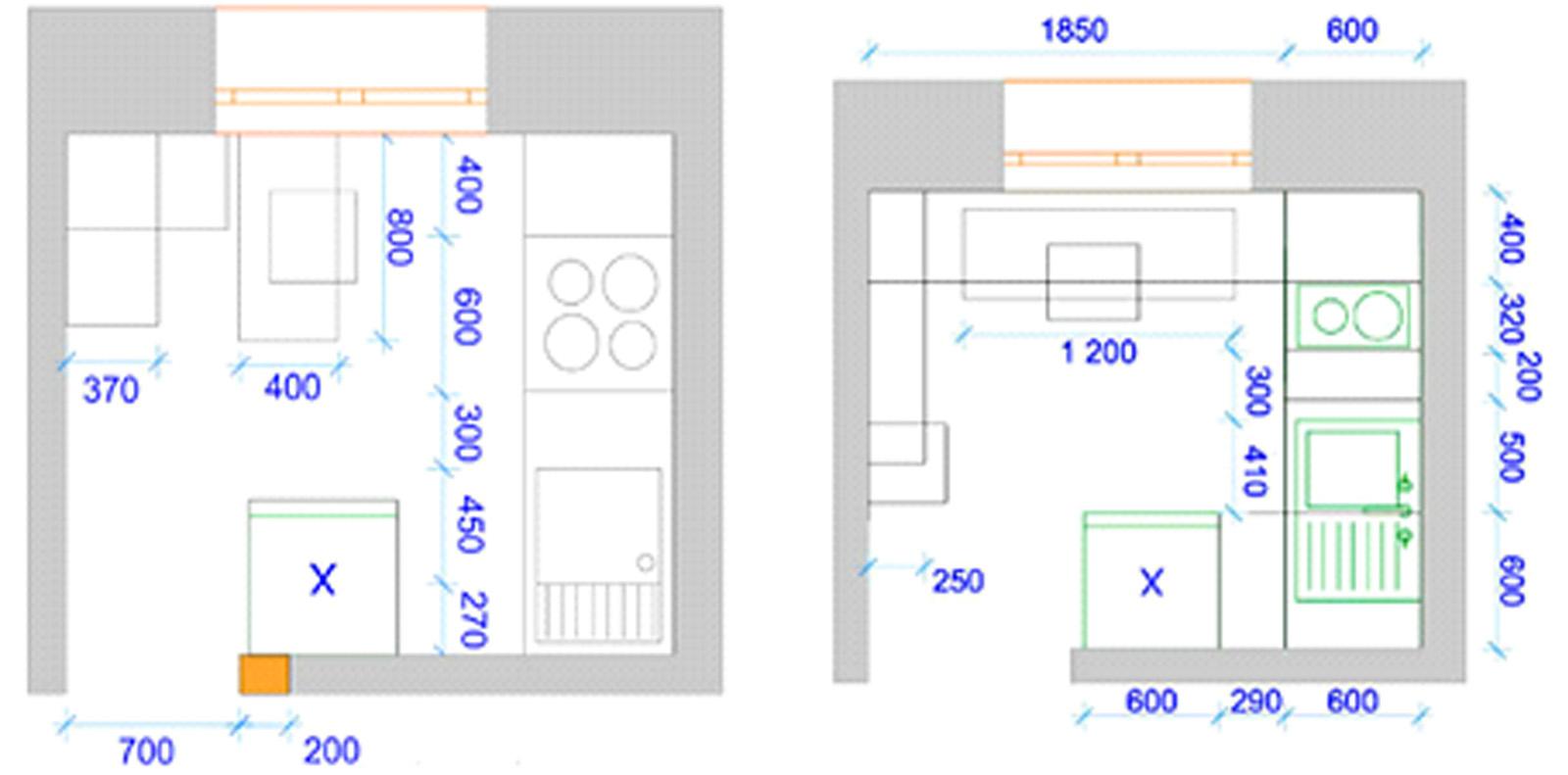 Расстановка мебели на малогабаритной кухне