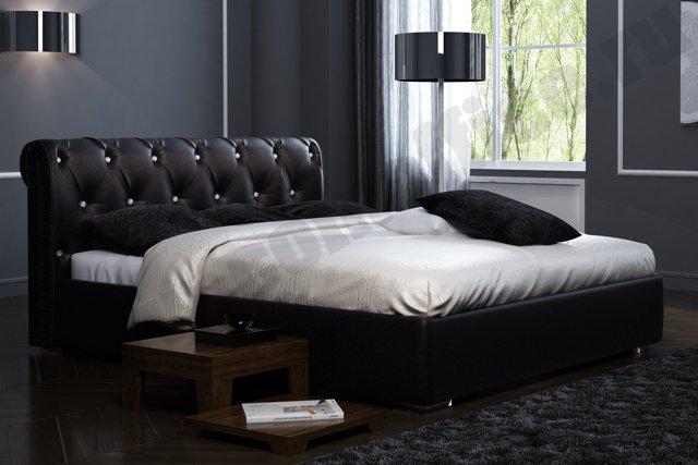 Кровать из кожи заменителя