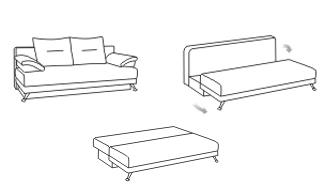 Механизм раскладывания диванов Еврокнижка