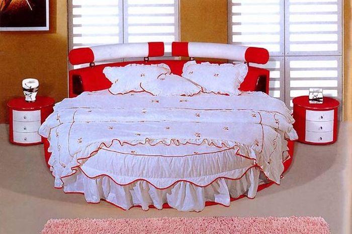 подходящее белье для круглой кровати
